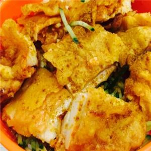 烤肉拌饭脆皮鸡饭